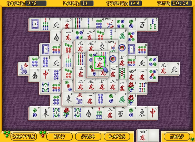Click to view All-Time Mahjongg 1.18 screenshot